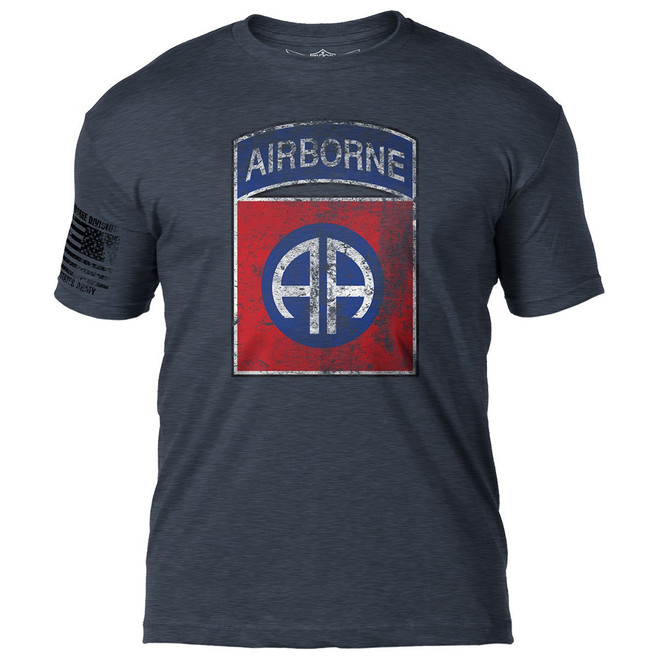 """Army 82nd Airborne"" --Distressed T-Shirt"