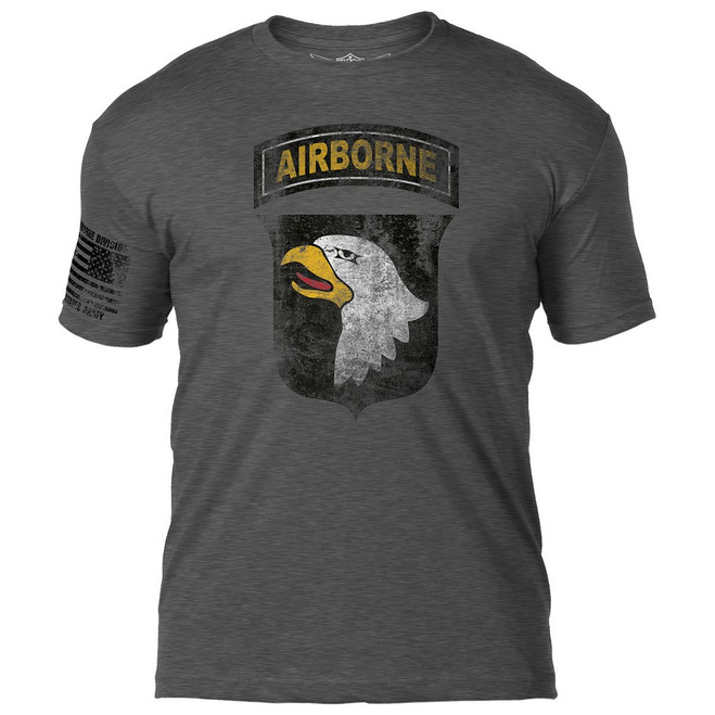 """Army 101st Airborne""  Distressed T-Shirt"