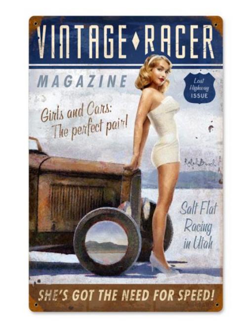"""""""Vintage Racer""""   Metal  Vintage Sign"""
