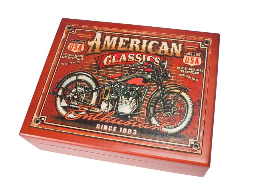 """""""AMERICAN CLASSICS"""" -------- 6"""" X 8"""" MAHOGANY BOX"""
