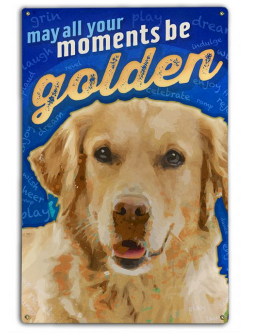 """""""MAY ALL YOUR MOMENTS BE GOLDEN""""  BIRCH WOOD PRINT"""