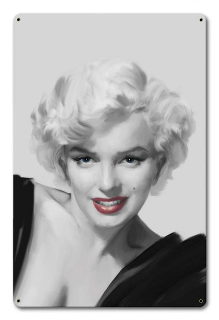 MARILYN--IN BLACK AND WHITE---METAL WALL ART