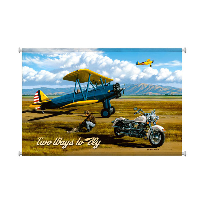 """""""TWO  WAYS  TO  FLY""""  CANVAS  PRINT"""