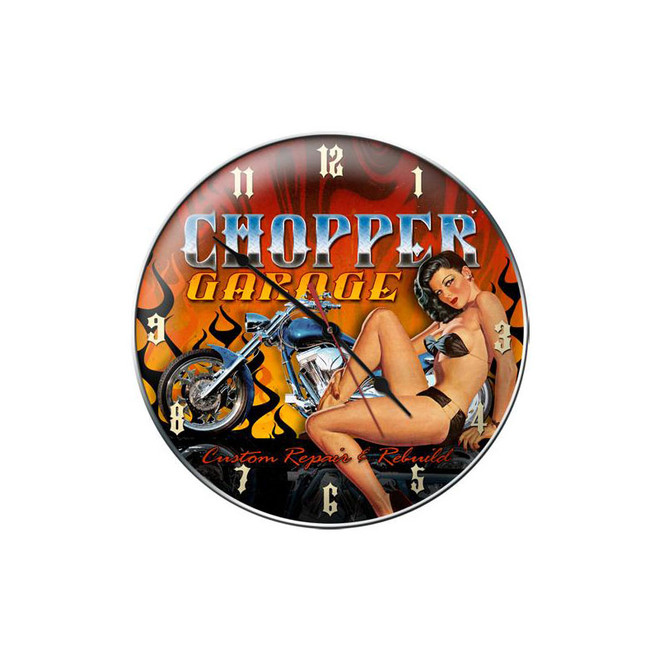 """CHOPPER  GARAGE""  CLOCK"