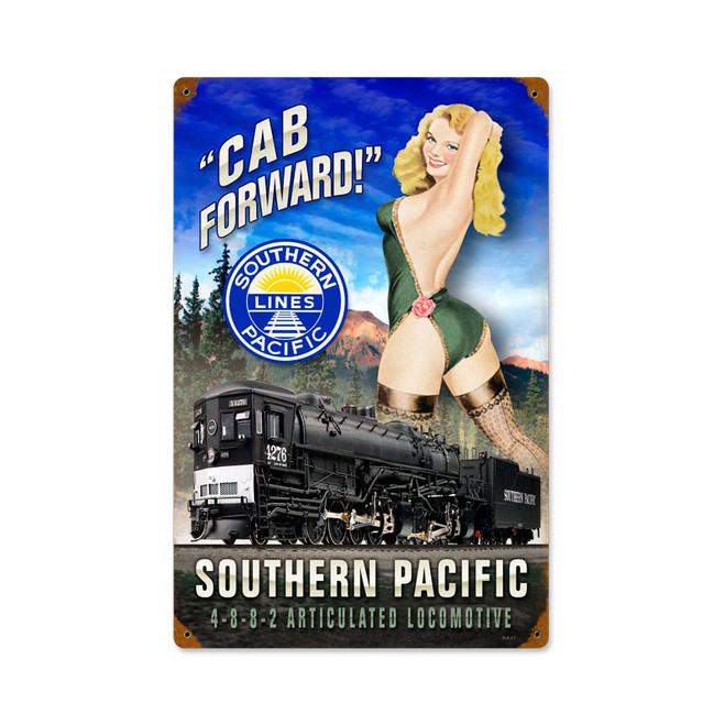 """ CAB  FORWARD""  VINTAGE METAL SIGN"