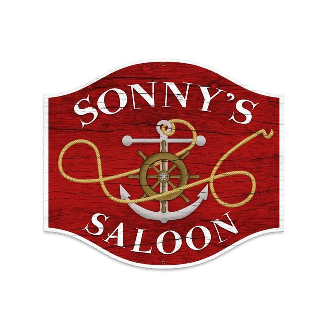 SAILOR  SALOON  &  TAVERN  PERSONALIZED  METAL  SIGN