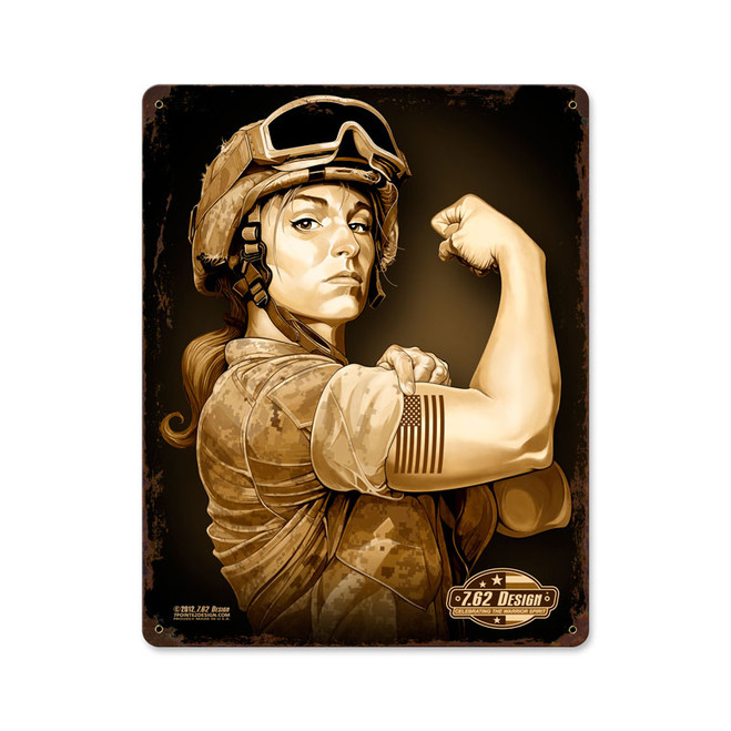 """SERGEANT  SARA ""  VINTAGE METAL SIGN"