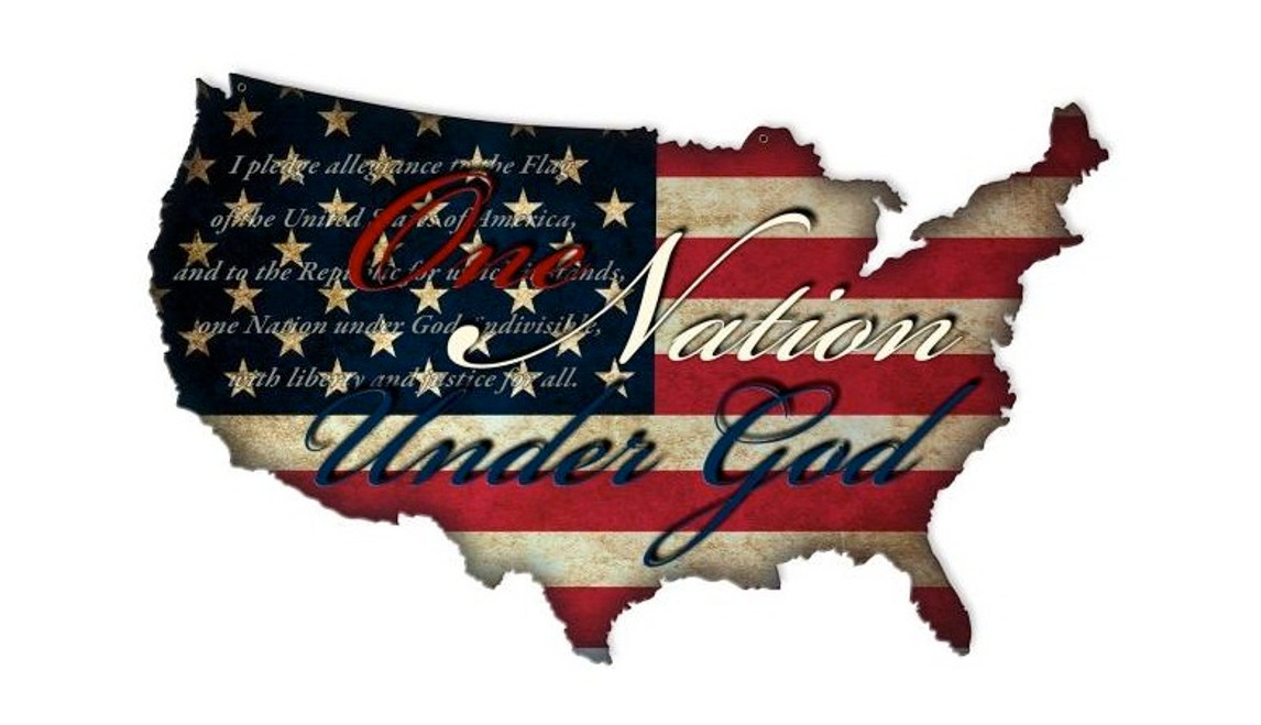 """ONE NATION USA""  METAL SIGN"