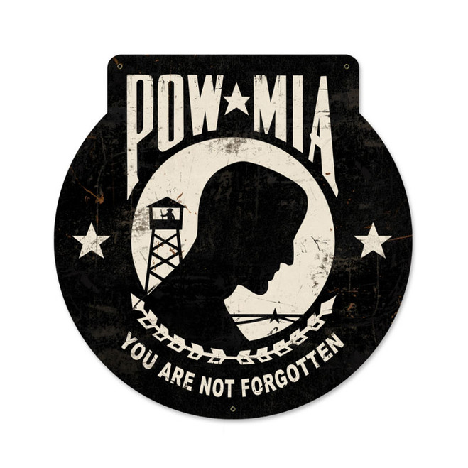 """""""POW MIA"""" METAL SIGN"""