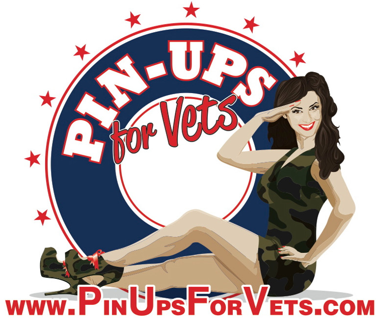 """Pin-Ups For Vets""  Logo   BUMPER   STICKER"