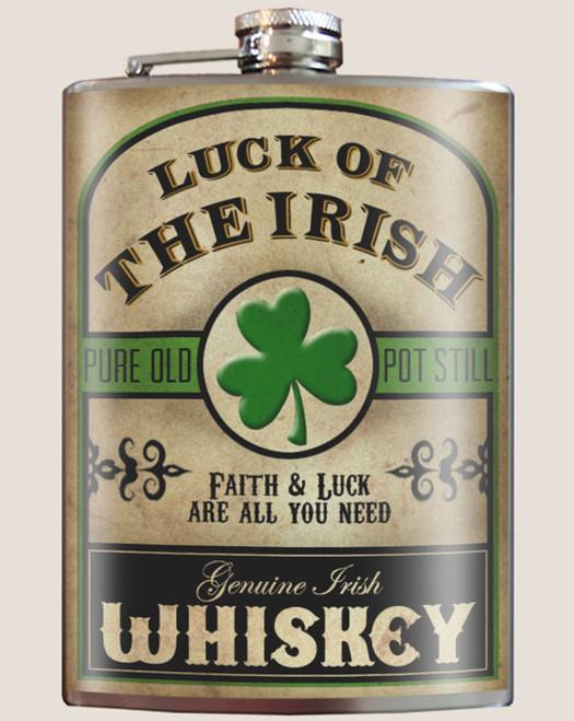 """LUCK  OF  THE  IRISH"" FLASK"