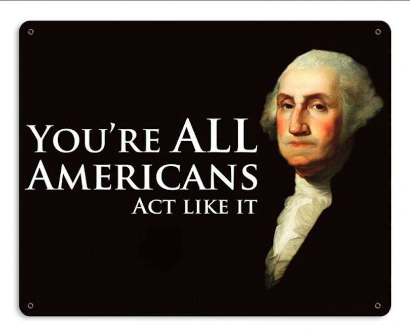 """""""ALL  AMERICANS""""  METAL SIGN"""