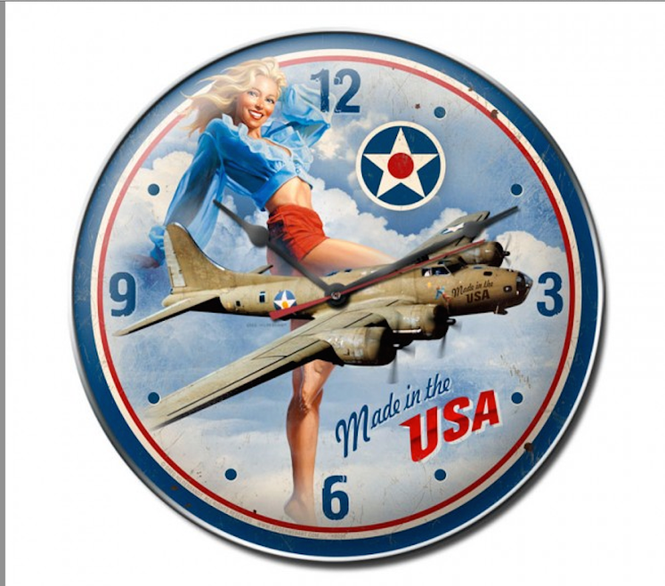"""MADE IN THE USA"" CLOCK"