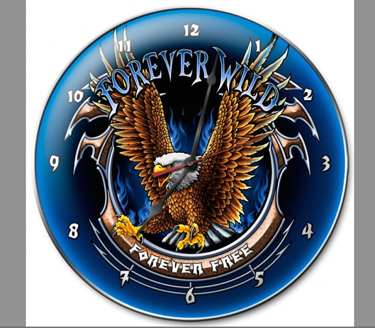 """""""FOREVER  FREE""""  CLOCK"""