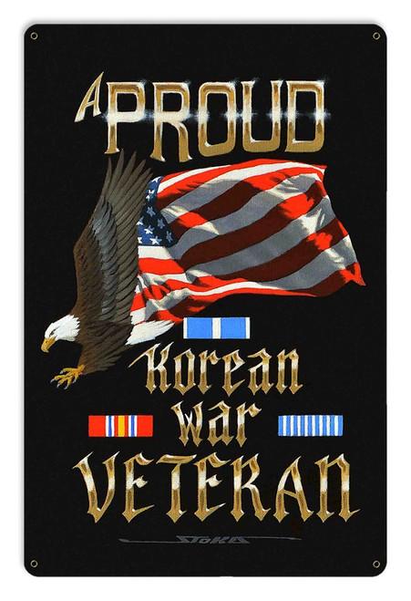"""""""PROUD  KOREAN  WAR  VETERAN""""  METAL  SIGN"""