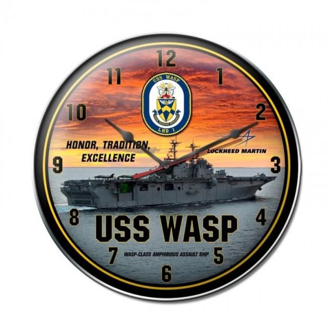 """USS  WASP""  CLOCK"