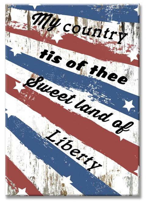 """""""USA  LIBERTY """"  WOOD  PRINT"""