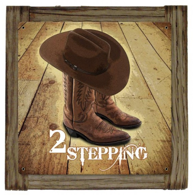 """""""TWO  STEPPING""""  METAL AND WOOD WALL ART"""
