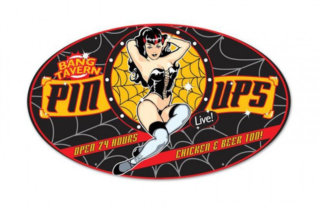 """PIN-UPS  TAVERN""  METAL  SIGN"