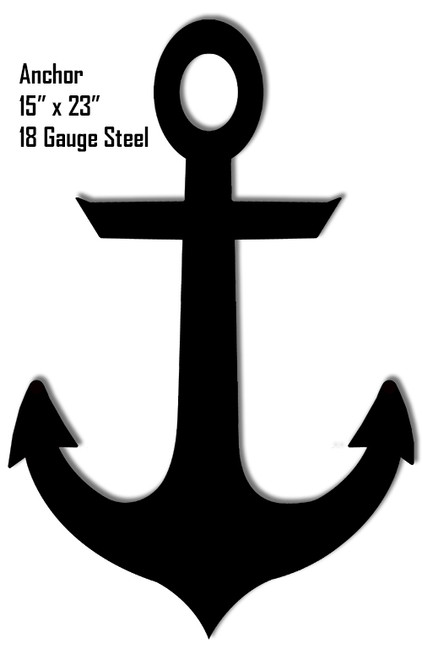 """""""ANCHOR""""  SILHOUETTE LASER CUT OUT METAL SIGN-- 15×23"""