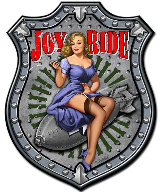 """JOY  RIDE""  METAL  SIGN"