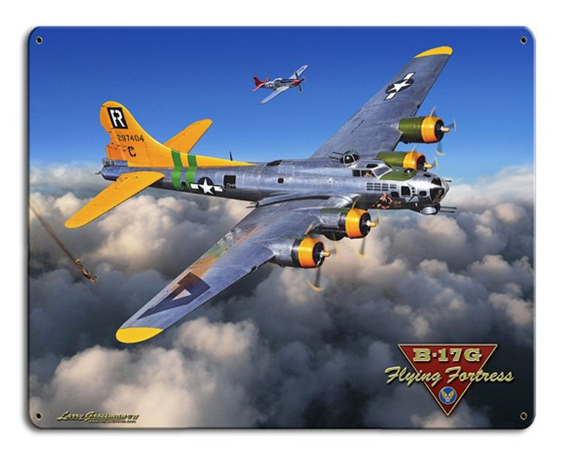 """B-17G   Flying   Fortress""  Metal  Sign"