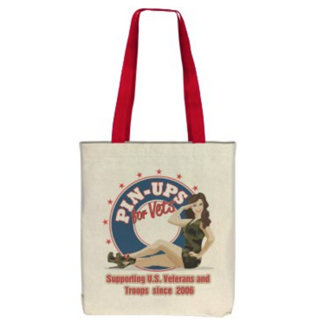 """""""Pin-Ups For Vets Supporting Troops & Vets"""" TOTE BAG"""