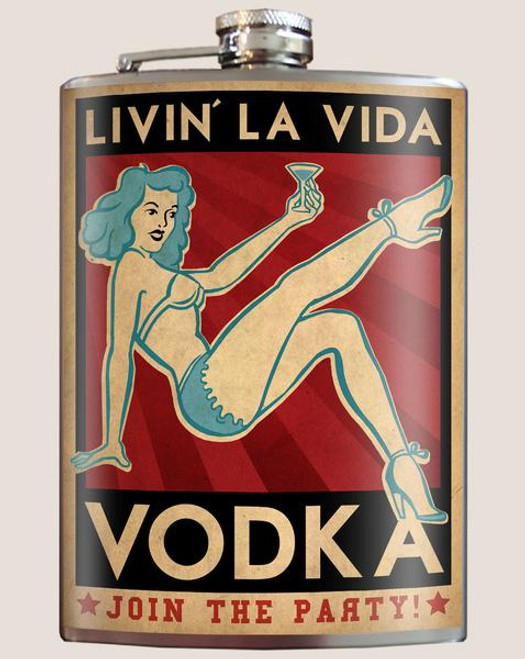 """La  Vida  Vodka""  - Flask"