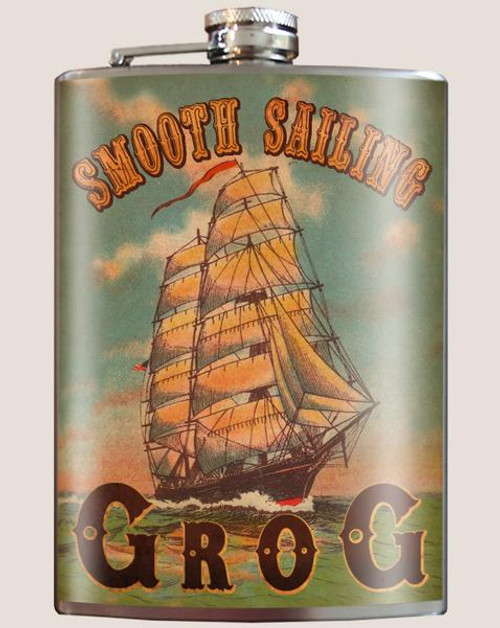 """SMOOTH  SAILING  GROG""  FLASK"