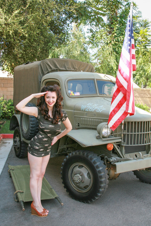 Gina Salutes Our Troops Poster