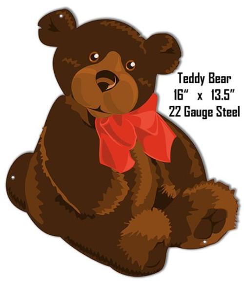"""Teddy Bear Animal Wall Art""-- Laser Cut Out Metal Sign"