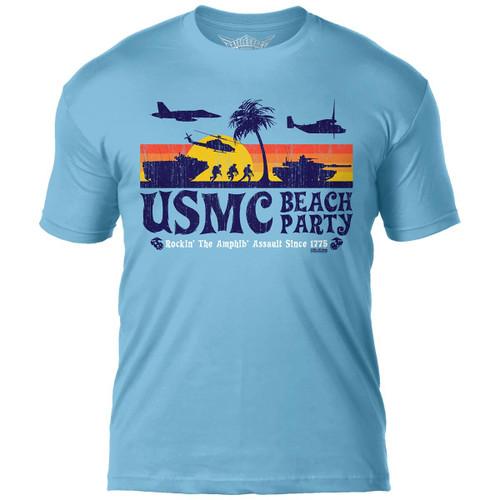 """USMC Beach Party""   T-Shirt"