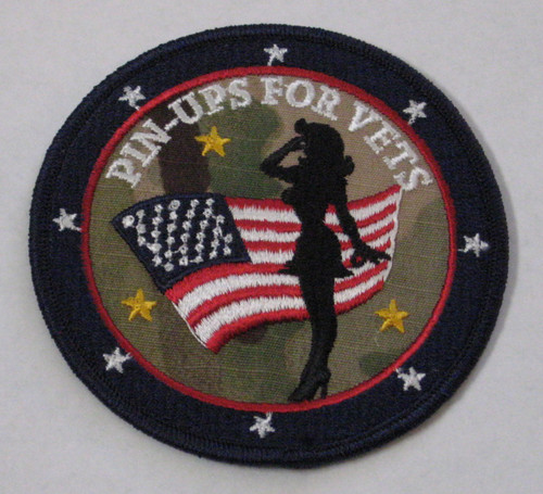 Pin-Ups For Vets Camo Girl Patch