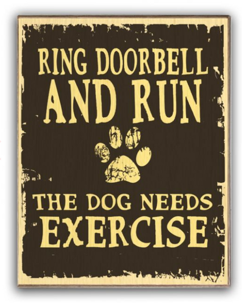 """RING DOORBELL AND RUN!""  WOODEN SIGN"