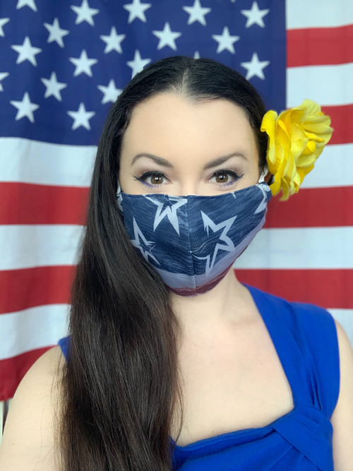 MADE IN THE USA--- PATRIOTIC MASK