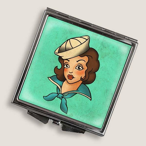 SAILOR GIRL--SQUARE MIRROR COMPACT