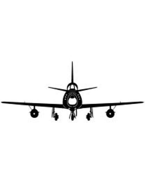 F86F Sabre Plane Steel Cut-Out
