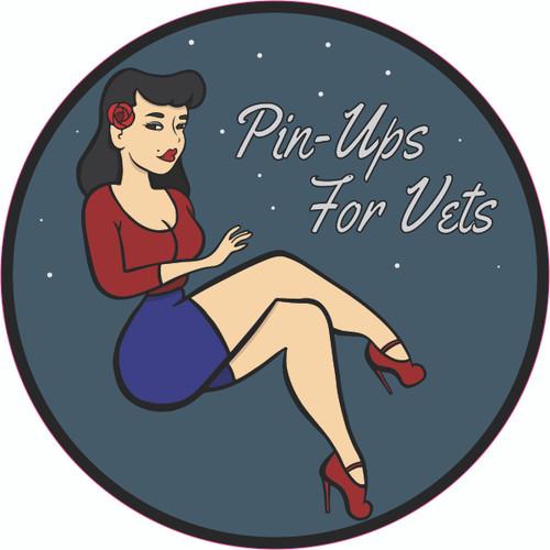 Blue Pin-Up Girl Bumper Sticker