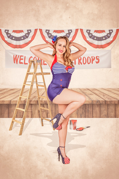 Donna Welcomes Home Troops Poster