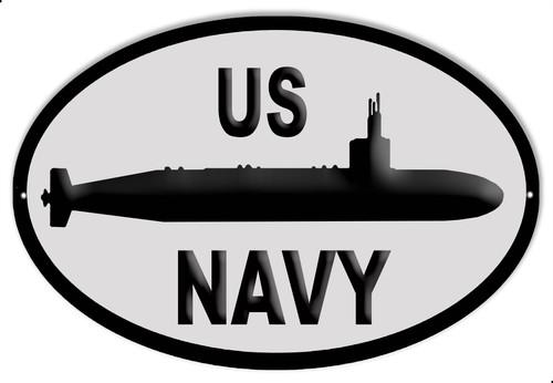 U.S. NAVY SUBMARINE---METAL SIGN