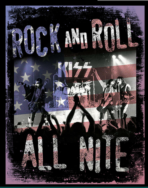 ROCK AND ROLL ALL NIGHT ---METAL  SIGN