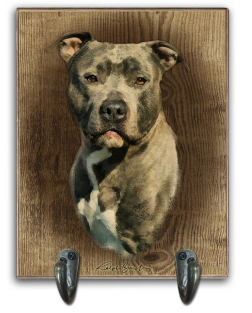 PITTBULL  LEASH  HOLDER ---(can add dog's name )