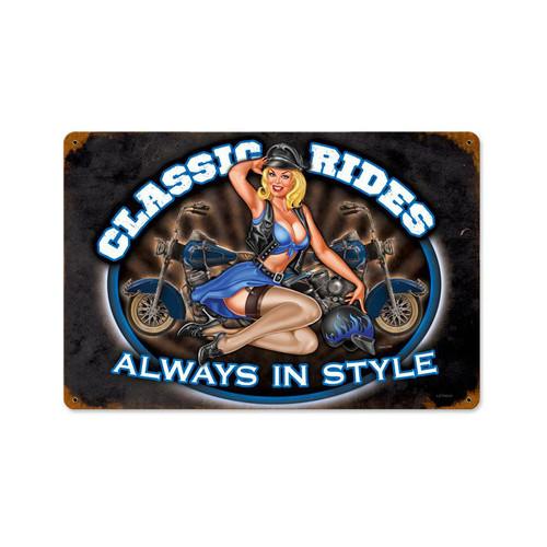 """CLASSIC   RIDES""   METAL   SIGN"