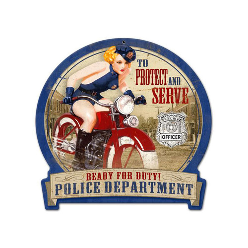 """""""TO PROTECT AND SERVE""""  METAL SIGN"""