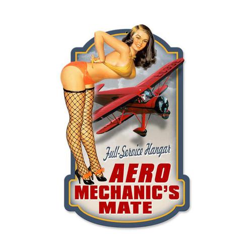 """""""AERO  MECHANICS""""  VINTAGE METAL  SIGN"""