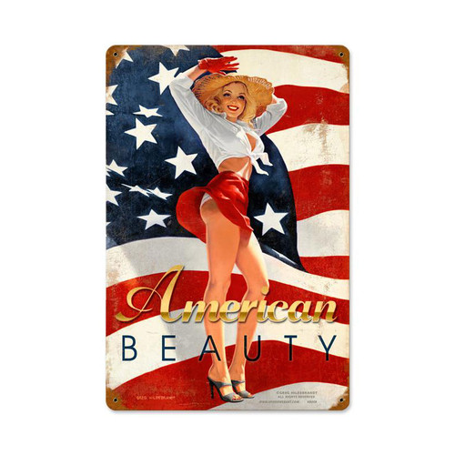 """AMERICAN  BEAUTY""  METAL SIGN"
