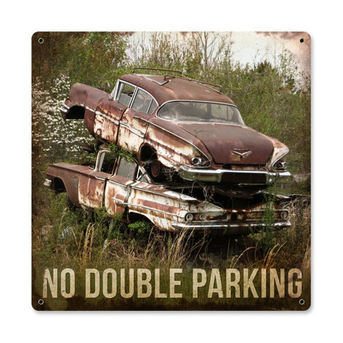 """NO  DOUBLE  PARKING""  METAL  SIGN"