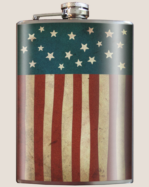 """OLD  GLORY""  FLASK"