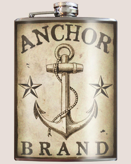 """""""ANCHOR  BRAND""""  FLASK"""