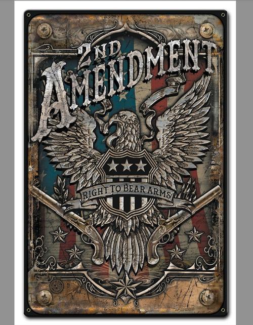 """2nd Amendment""  Metal Sign"
